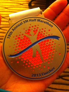 A hard earned medal