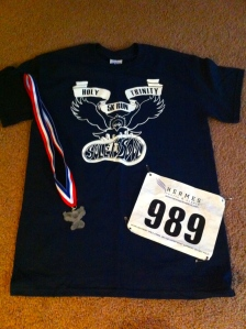 Fun shirt and medal