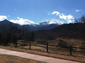 Pikes Peak in the distance