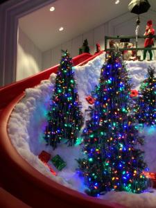 The original elves from A Christmas Story pushed everyone down the slide