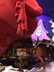 The Grinch's sleigh, one of three they used for the movie