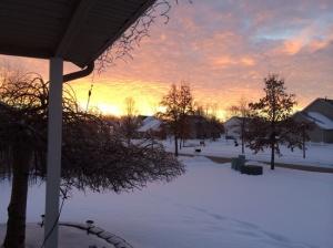 The sunrise, 7:21 am, 1 degree and beautiful 17/365
