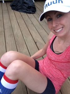 Red, white, blue and happy post 14 miles!