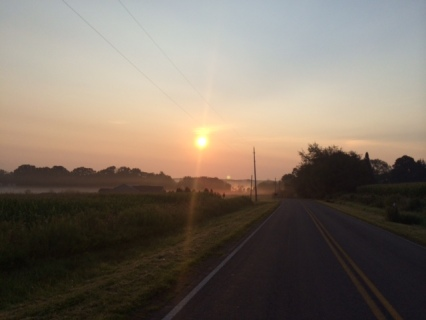 Country roads sunrise