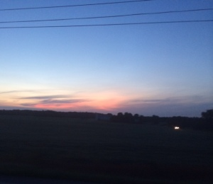 Sunrise on the way to Wooster