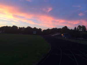 Chasing daylight on the track
