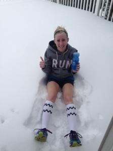 Perfect post treadmill ice bath!