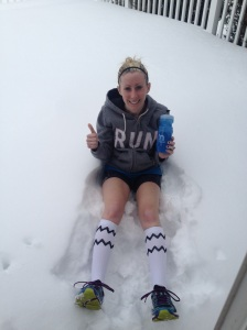 Perfect post treadmill ice bath!
