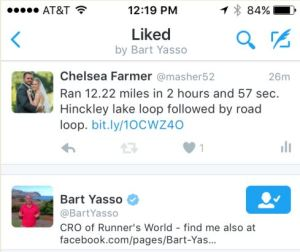 Tough run, but Bart Yasso approves!