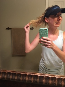 Post run hair, not a pretty sight!